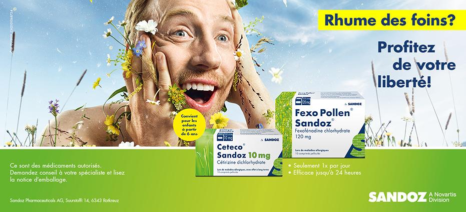 Ceteco und Fexo Pollen Sandoz nasal pas cher