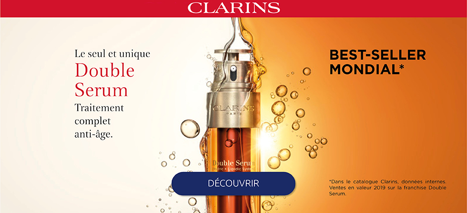 Soins du visage Clarins, corps, maquillage, protection solaire Clarins pas cher